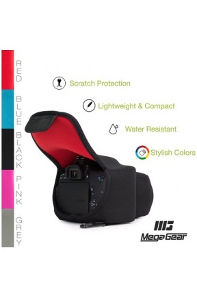 MegaGear Canon EOS 100D, 200D, 700D, 760D 800D, 1300D, 2000D, 4000D, 8000D (18-55) Neopren Fotoğraf Makinesi Kılıfı