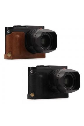 Megagear  Leica Q (Typ 116) (Tek Dip) Hakiki Deri Fotoğraf Makinesi Kılıfı