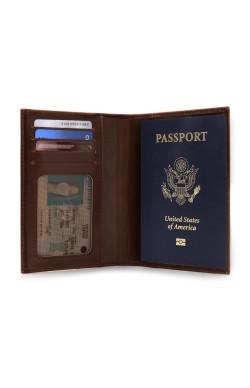 Otto Angelino Deri Pasaport Kılıfı Cüzdanı - RFID Korumalı